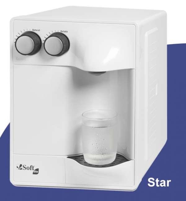 Soft purificadores de água natural e gelada