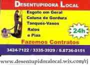 Desentupidora Nilópolis, Mesquita, Desentupimento 24 hs RJ.