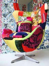 Móveis de patchwork com os melhores tecidos