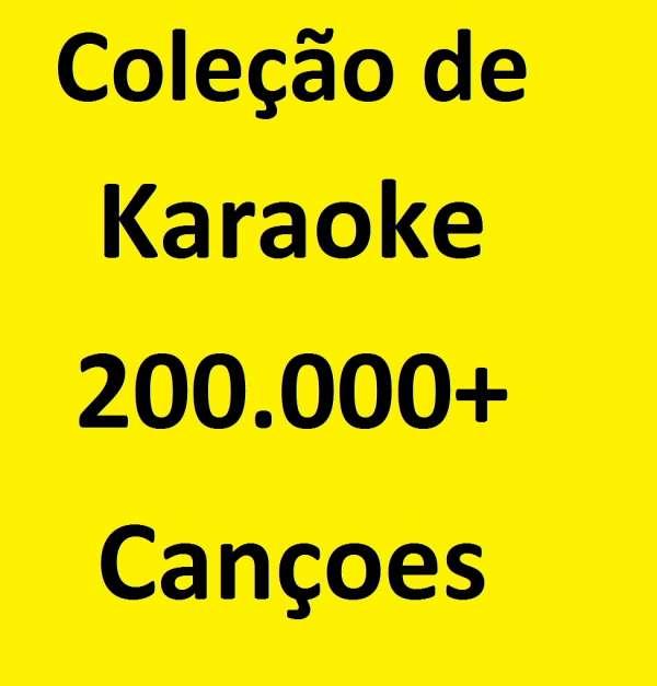 Coleção de 200.000 + faixas profissionais de karaoke em inglês (formato cdg/mp3+g)