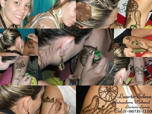 Tatuagem de henna para eventos