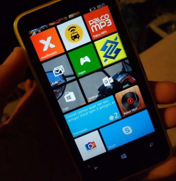 Novo lumia 620 com wp 8.1 atualizado