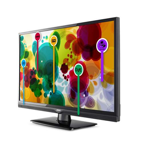 Tv led 29´´ com conversor digital/hdmi/usb t2965ms - aoc