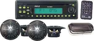 Promoção pyle deck in dash com cd de 25 watts 4 alto-falantes à prova d'água made in usa
