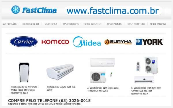 Ar condicionado online - comprar ar condicionado split online - fast clima