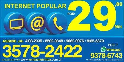 Tenha hoje sua internet popular, apenas r$ 29,80