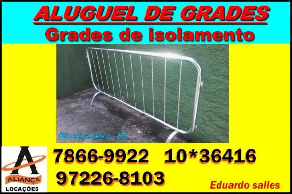 Aluguel de grades de isolamento / gradil / rio de janeiro / sepetiba / bangu