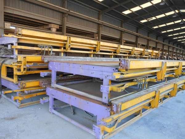 Mesas horizontais para fabricação de concreto pré-moldado