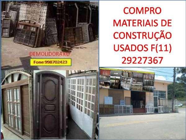 Compro materiais usados de construção em são paulo e região