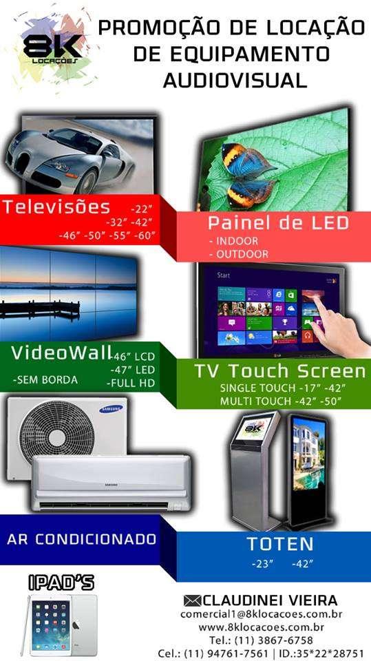 Locação de video wall, painel de led ,telas de led
