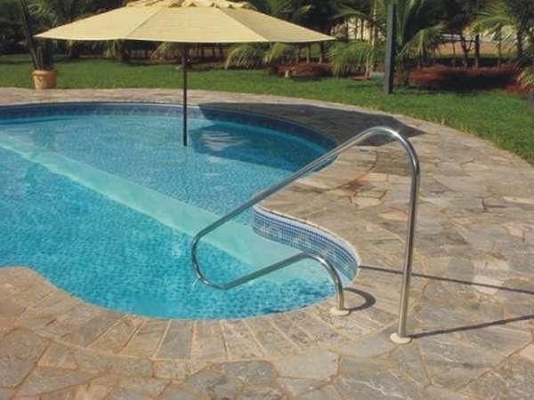 Corrimão para piscina ilha bela - mega-lazer