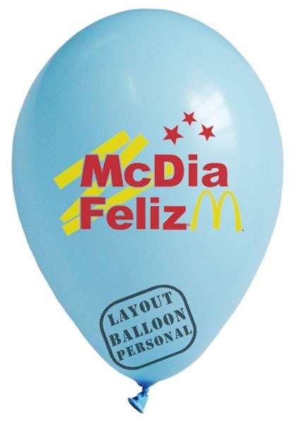 Balões personalizados em até 4 cores de gravação - balloon personal