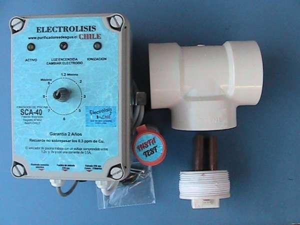 Sistema de ionização electrolisis chile, modelo sca-40