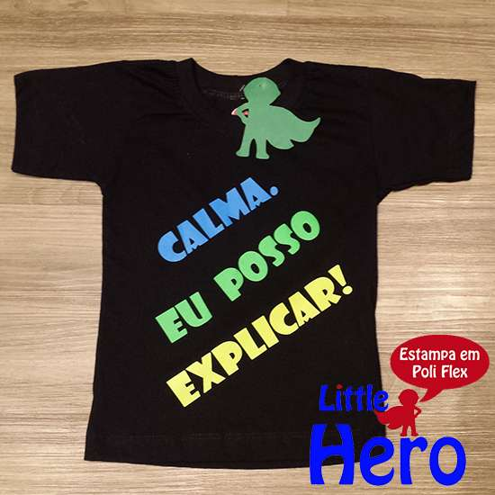Camisas little hero 100% algodão