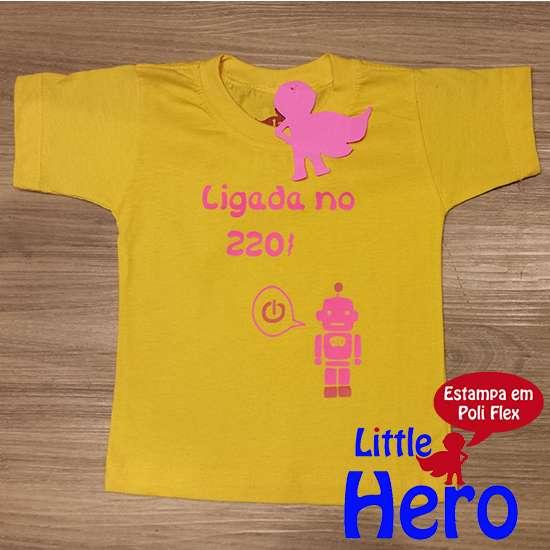 Fotos de Camisas little hero 100% algodão 3
