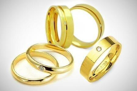 Alianças em ouro fabricação própria