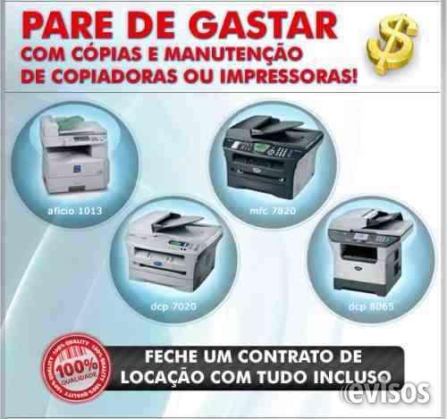 Aluguel, locação impressoras, scanner, multifuncionais manutenção