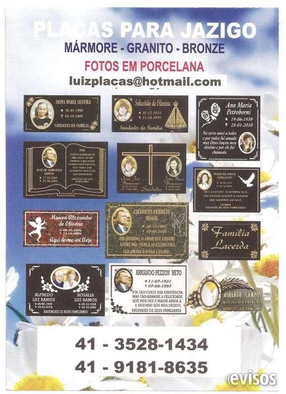 Placas para cemiterio,tumulos e jazigos