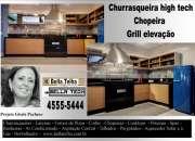 Churrasqueira de apartamento, churrasqueira com coifa, churrasqueira moderna,bella telha