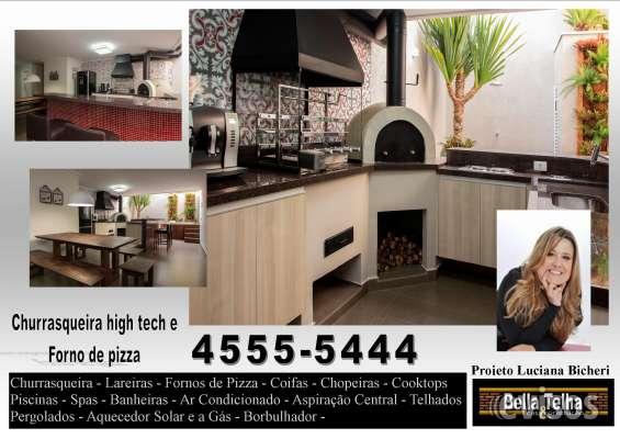 Churrasqueira para apartamento, churrasqueira com coifa, churrasqueira moderna,bella telha, varanda gourmet com churrasqueira, churrasqueira em apartamento, coifas para churrasqueira, churrasqueira projetos, churrasqueira de alvenaria, churrasqueira em tij