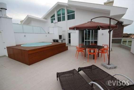 Cobertura em florianópolis na praia dos ingleses, na planta,3 quartos,garagem