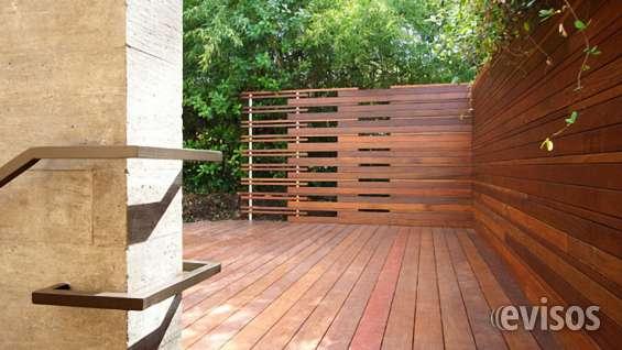Jardim de inverno deck e parede de madeira cumaru