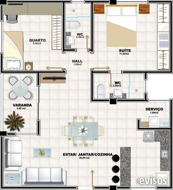 Apartamento 2 quartos - 72m²