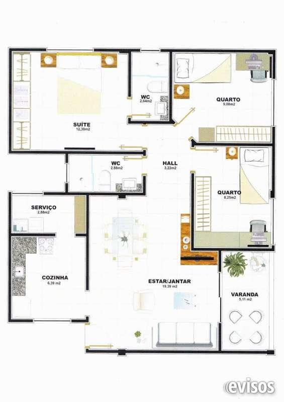 Apartamento 3 quartos - 82m²