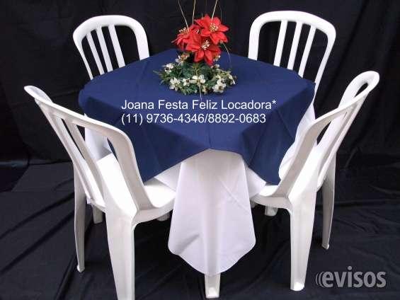 Aluguel de mesa,cadeiras,toalhas etc 11 4685-2520
