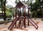 Playgrond casinha de Tarzan com 6 brinquedos de eucalipto tratado