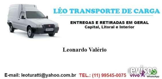 Léo transporte de carga