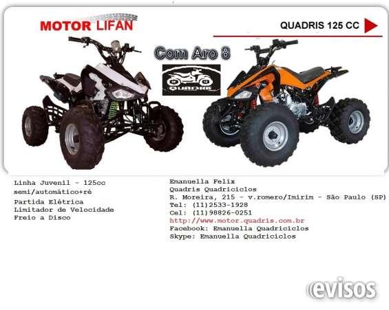 Promoção quadriciclo 125cc semi-automático motor lifan aro 8