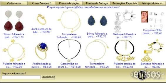 Folheados direto da fábrica atacado e varejo semi-jóias e bijuterias em geral