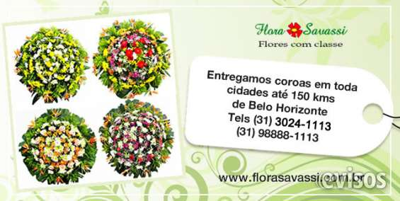 Coroas de flores floricultura cemiterios e velórios bh - entrega coroas