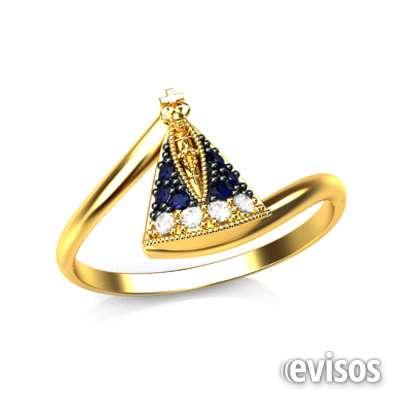 Anel ouro 18k com diamante e safira natural