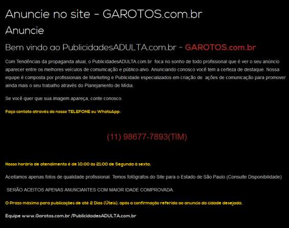 Garotos.com.br - quer anunciar conosco?? entre em contato!