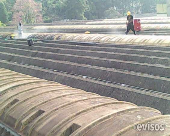 Limpeza telhados industriais