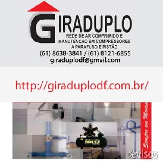 Rede de ar comprimido e conserto de compressores