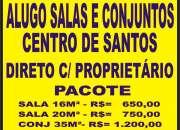 ALUGO CONJUNTO COMERCIAL NO CENTRO DE SANTOS