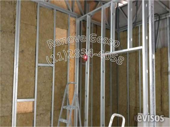 Drywall? 11/2834-4058 paredes divisorias forros gesso apartamento casas lojas residencial