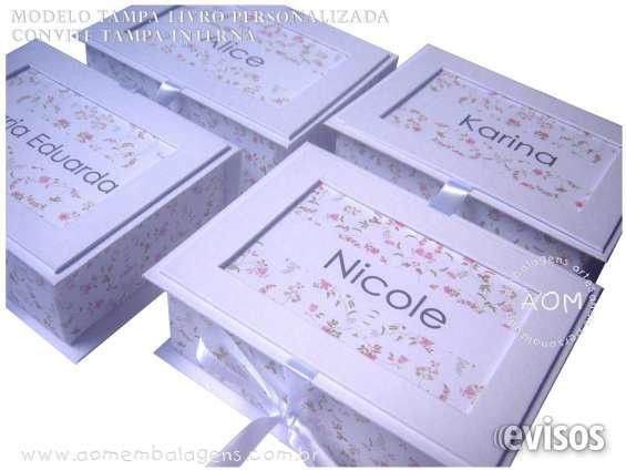 Fotos de Caixa tapa livro personalizada para daminhas.