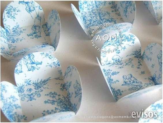 Forminhas toile azul