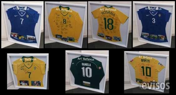 Quadros c molduras p camisas futebol-outras art reflexus-vila ... 1a9bc8182a713