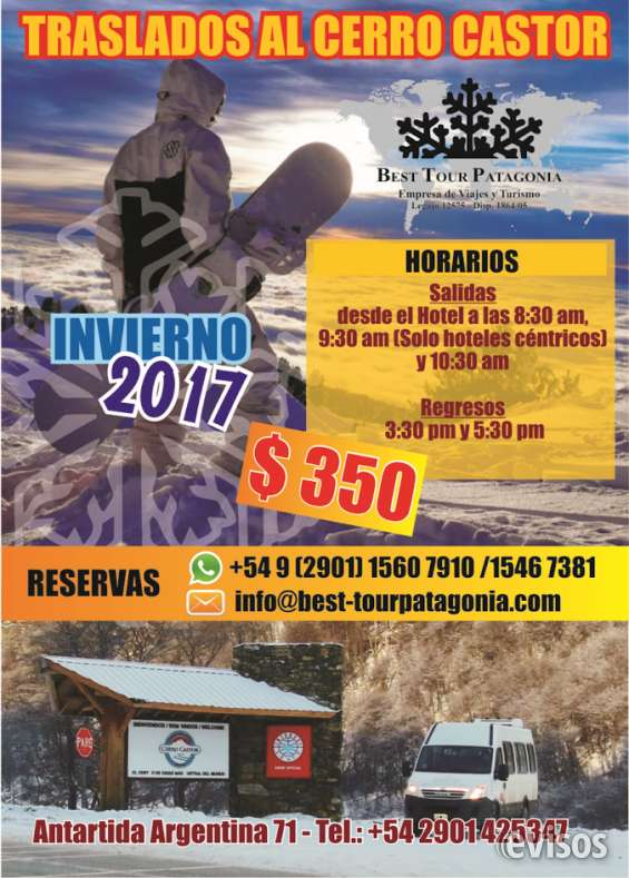 Fotos de Traslados cerro castor e centros invernais 2017 ushuaia argentina 2