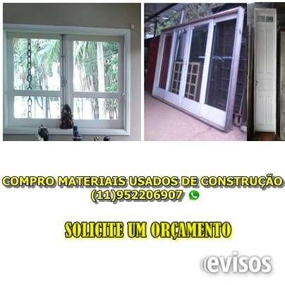Compra de materiais usados porta, janela, grade, vitro, portão em são paulo em são paulo