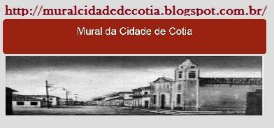 Mural com anuncios e noticias da cidade de cotia.