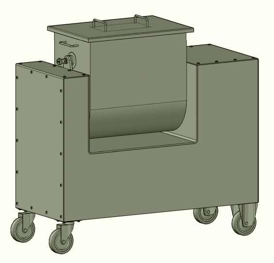 Mezcladora volcable . planos completos de piezas y fabricación
