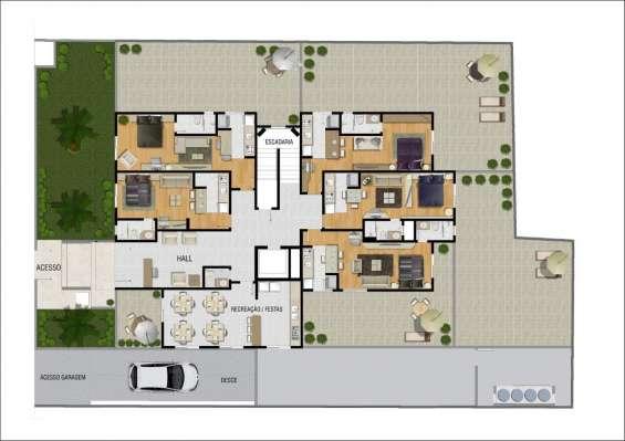Apartamento studio garden centro curitiba - zero novo!