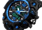 Relógio SKMEI Original 1155 Prova D'água Azul e Preto Barato