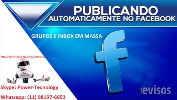Software postagem facebook grupos e inbox em massa